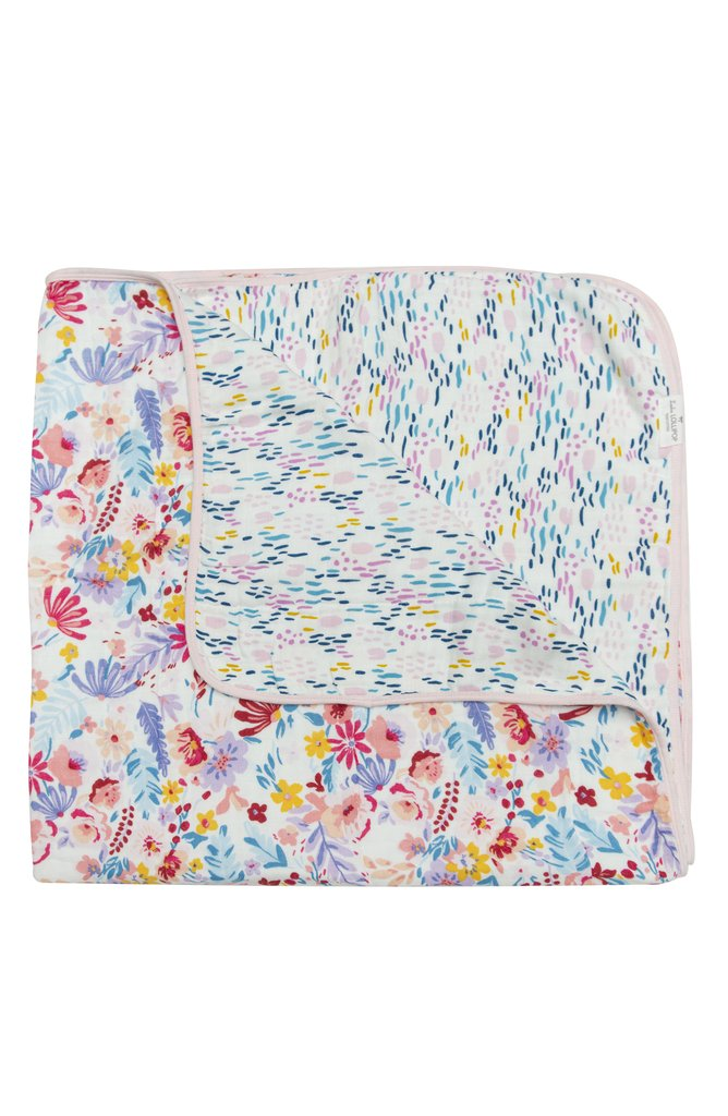 Muslin Quilt Blanket - Light Field Flowers