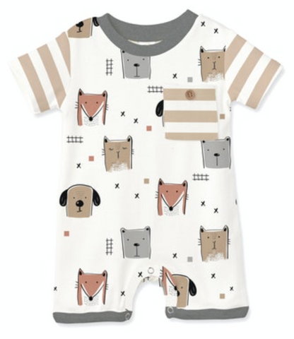 Animal Party Shortie Romper