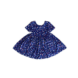 Star Bright Short Sleeve Pocket Twirl Dress