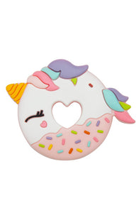 Unicorn Donut Silicone Teether