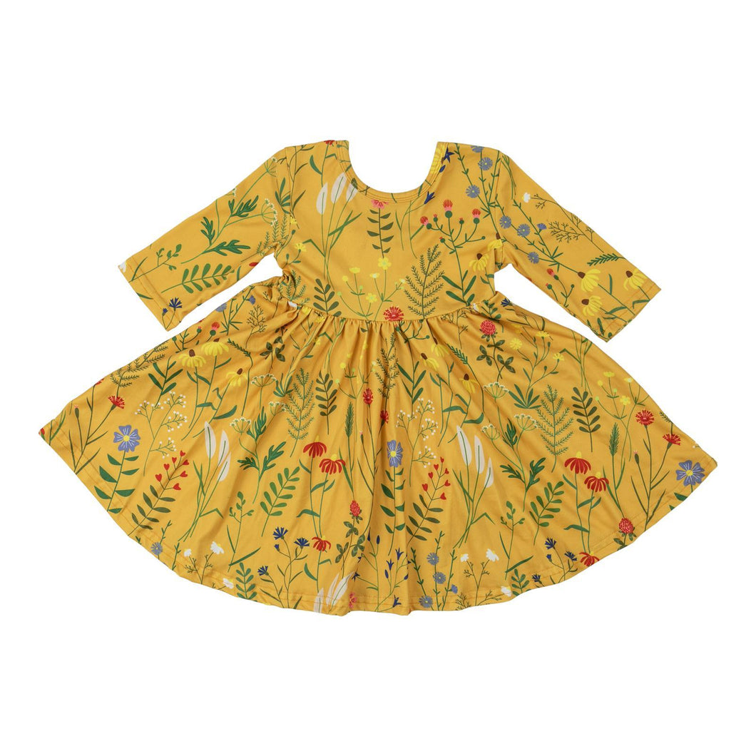 Dandelion Floral Twirl Dress