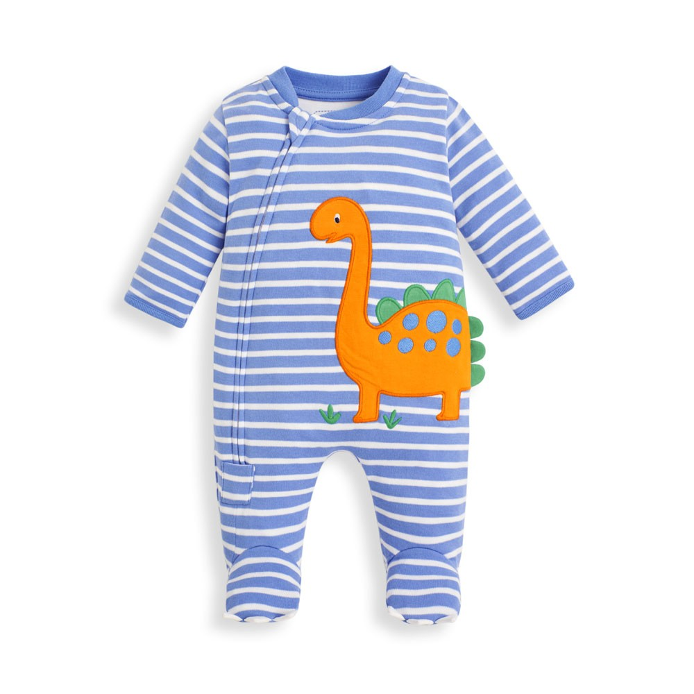 Dino Applique Zip Sleepsuit