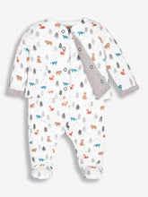Load image into Gallery viewer, 2-Piece Woodland Baby Jacket & Sleepsuit Set
