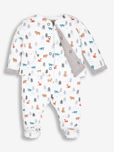 2-Piece Woodland Baby Jacket & Sleepsuit Set