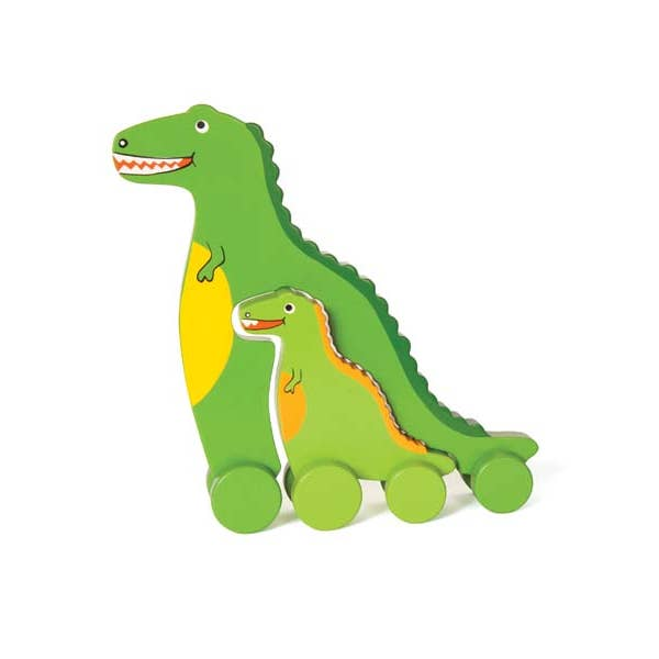 Dinosaur Mommy & Baby Push Toy