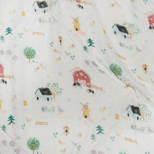 Load image into Gallery viewer, Muslin Farm Animals Print Swaddle