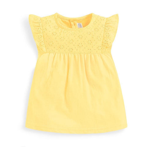 Yellow Pretty Embroidered Top