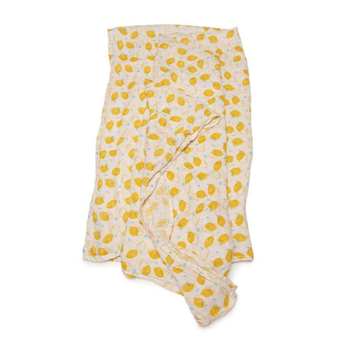 Muslin Lemon Print Swaddle