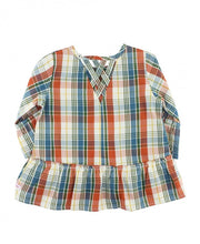 Load image into Gallery viewer, Miller Plaid Peplum Top