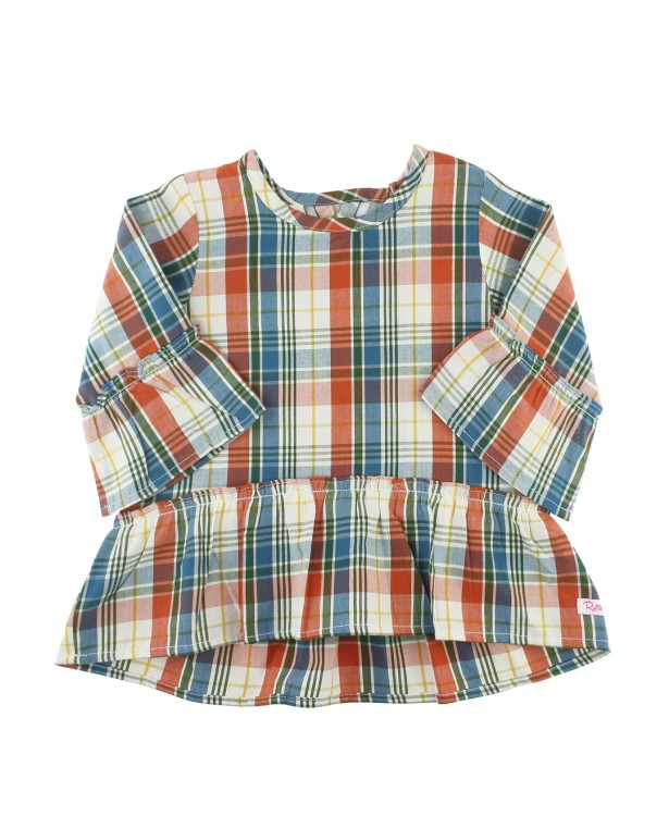 Miller Plaid Peplum Top