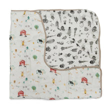 Load image into Gallery viewer, Muslin Quilt Blanket - Farm Animals