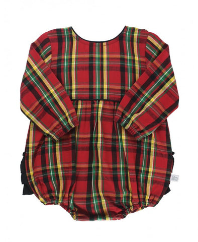 Remington Plaid V-Back Bubble Romper