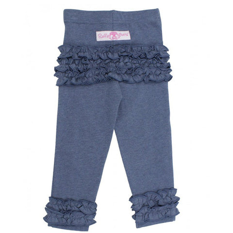 Faux Denim Ruffle Legging