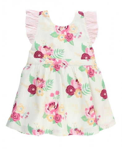 Darling Bouquets Pinafore Dress