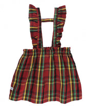 Load image into Gallery viewer, Remington Plaid Ruffle Strap Skirt