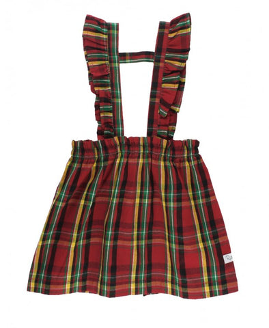 Remington Plaid Ruffle Strap Skirt