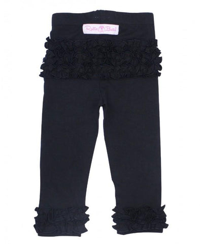 Black Everyday Ruffle Legging