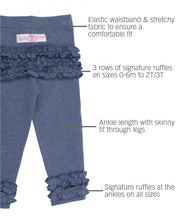 Load image into Gallery viewer, Faux Denim Ruffle Legging