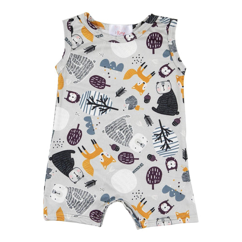 Forest Friends Shorty Romper