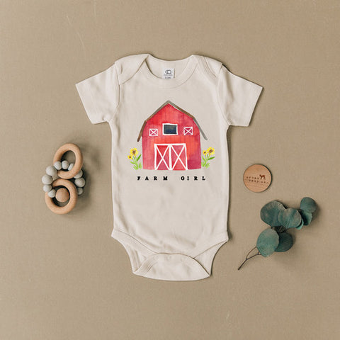 Farm Girl Organic Onesie
