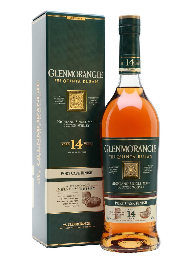 Glenmorangie Scotch Single Malt 14 Year The Quinta Ruban - 750ML