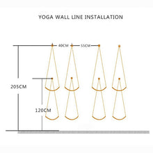 Load image into Gallery viewer, 4 pcs Iyengar Yoga Wall Anti Gravity Hanging Rope - Akasa Yoga