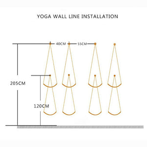 4 pcs Iyengar Yoga Wall Anti Gravity Hanging Rope - Akasa Yoga
