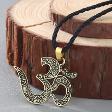 Load image into Gallery viewer, OM Necklace Pendant - Akasa Yoga