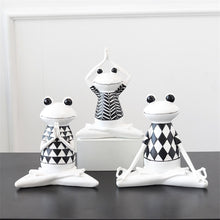 Load image into Gallery viewer, Fashion Yoga Frog Statues Decoration - Akasa Yoga
