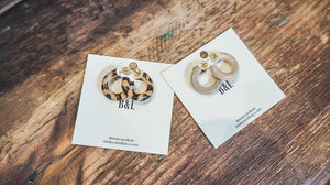 Binky & Lulu Mango Wood Hoop Earrings - Provisions, LLC