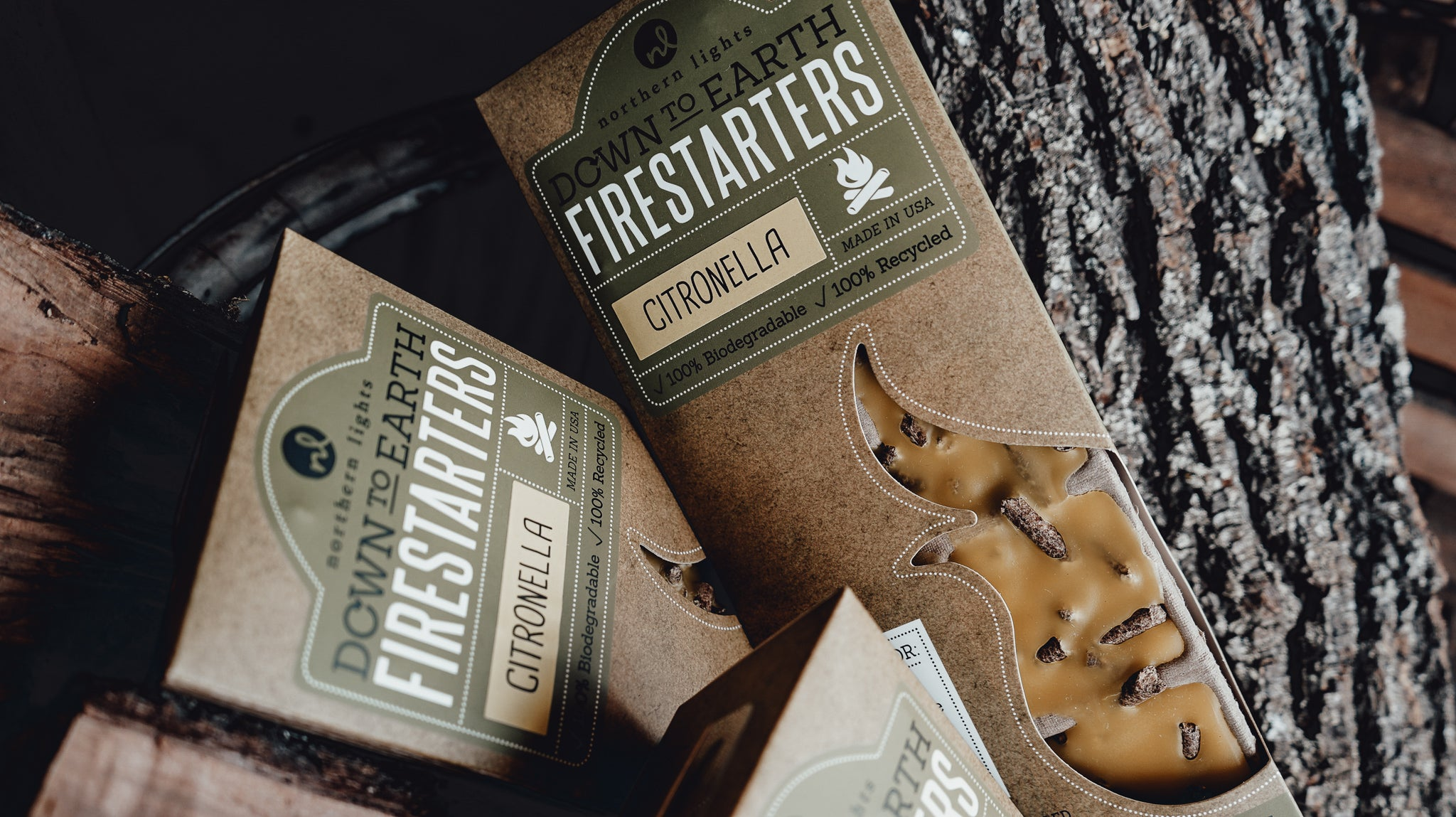 Northern Lights Down To Earth Fire Starters - Provisions, LLC