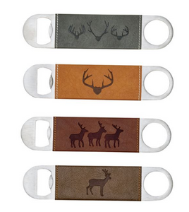 Deer Faux Leather Bottle Openers - Assorted - Provisions, LLC