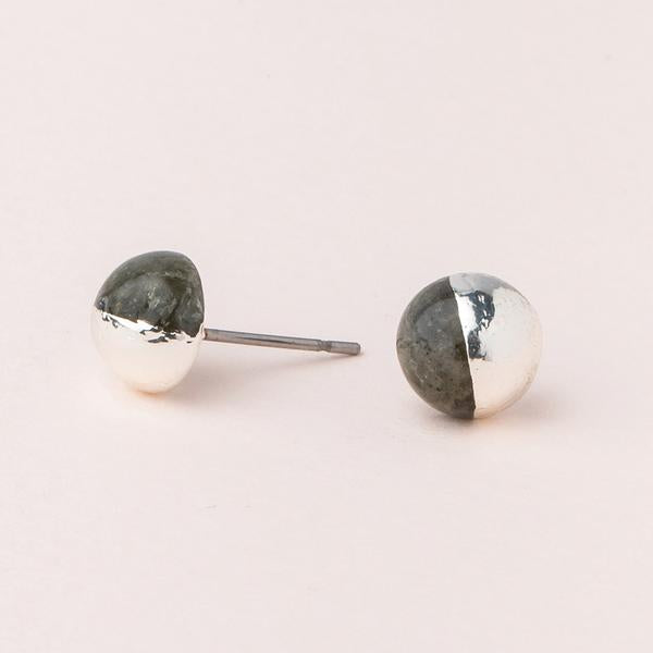 Dipped Stone Stud Earrings - Provisions, LLC