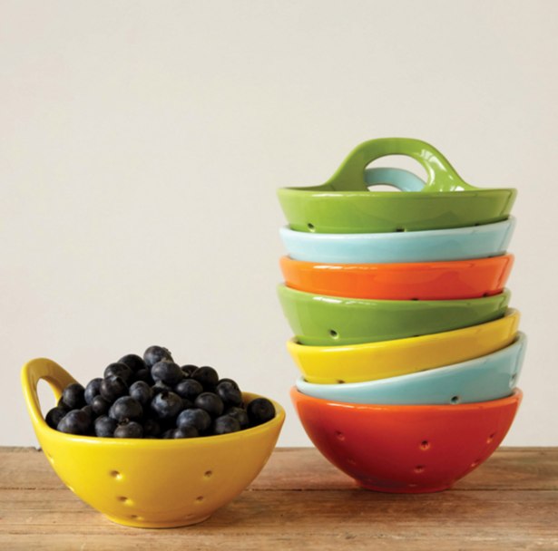 Stoneware Berry Bowl with Handle - Provisions, LLC