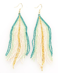 Ivory With Teal Ombre Luxe Earring - Provisions, LLC