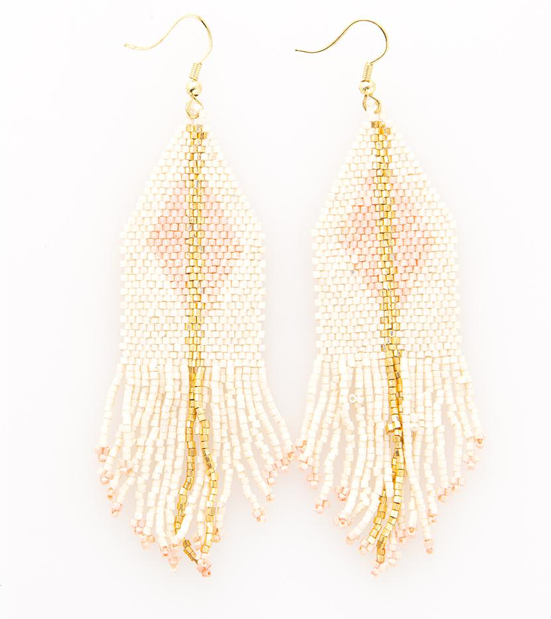 Ivory With Blush Luxe Earring - Provisions, LLC