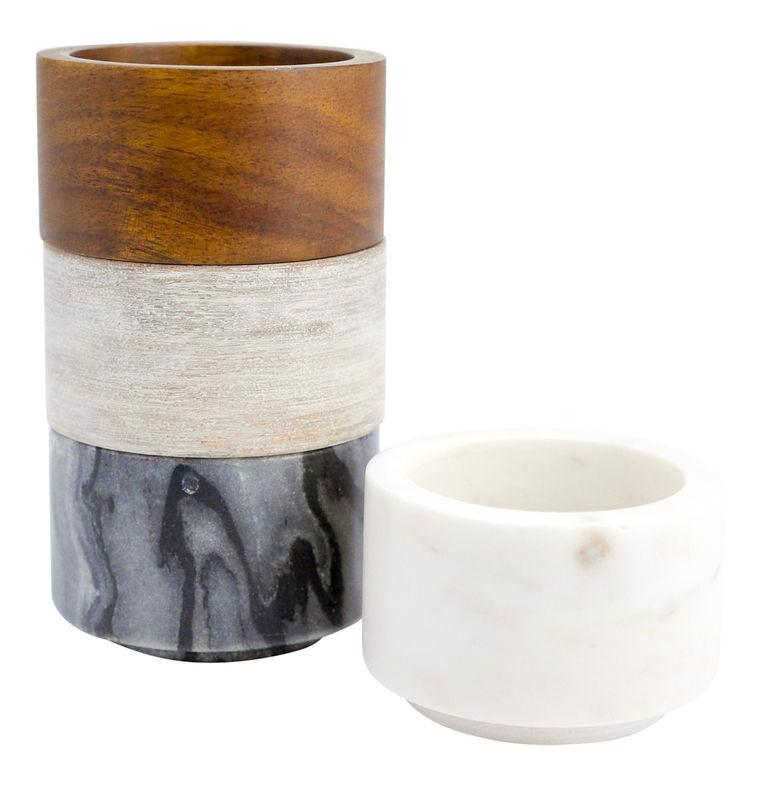 Wood & Marble Mini Bowls -Set of 4 - Provisions, LLC