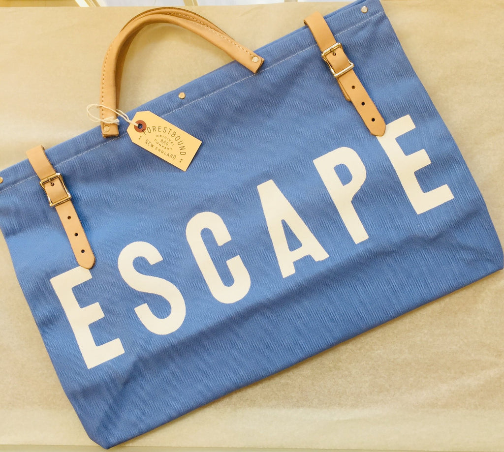 Forestbound ESCAPE Canvas Bag in Blue - Provisions, LLC
