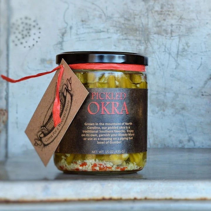 Copper Pot Wooden Spoon: Pickled Okra - Provisions, LLC