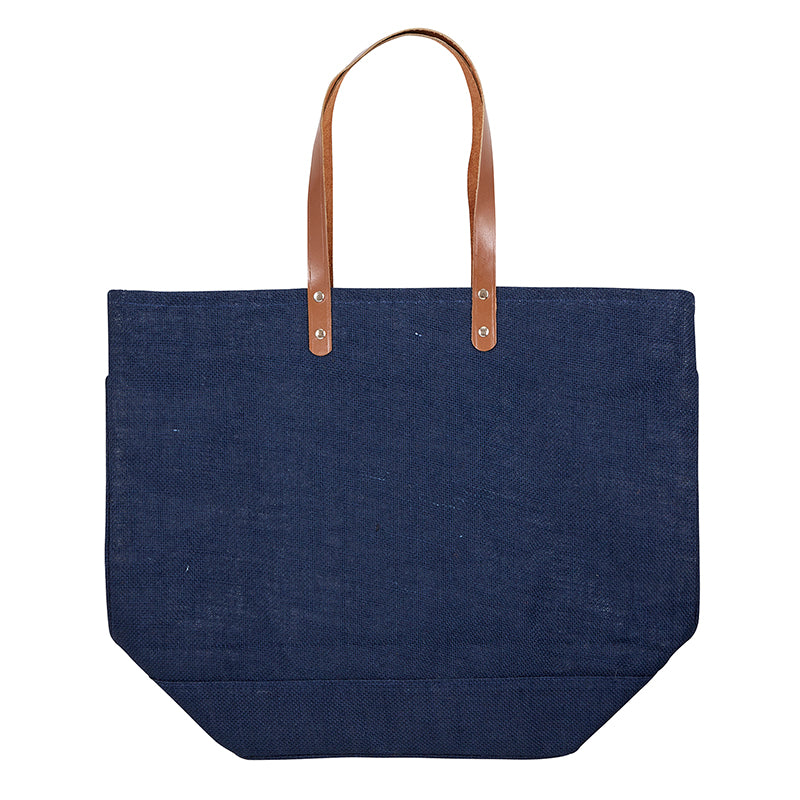 Leather & Jute Tote Bag - Provisions, LLC