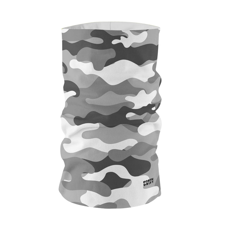 White Camo Neck Gaiter
