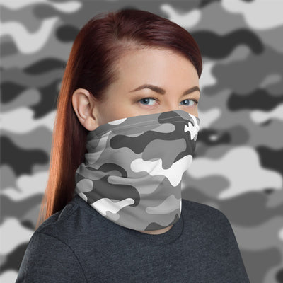 White Camo Face Cover