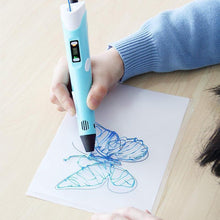 Load image into Gallery viewer, 3D Printing Pen for Kids and Adults with 5m Filament(random colour & Biodegradable material)