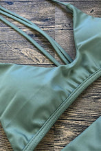 Load image into Gallery viewer, Olive Strappy Triangle Brazilian Bikini Swimsuit - Two Piece Set.bi