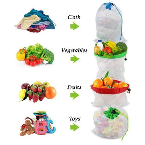 Ecological and Reusable Portable Bag, 12 Pieces.