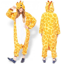 Load image into Gallery viewer, Animal cartoon warm hooded pajamas onesie