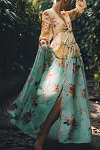 Load image into Gallery viewer, Best Bohemian Splicing Floral High-Waist Maxi Dresses