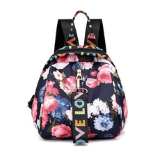 Load image into Gallery viewer, Floral Waterproof Shoulder Bag Backpack