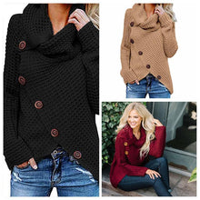 Load image into Gallery viewer, Irregular Ladies High Collar Sweater
