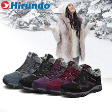 Load image into Gallery viewer, Couple Winter Warm Fur Lining Snow Shoes